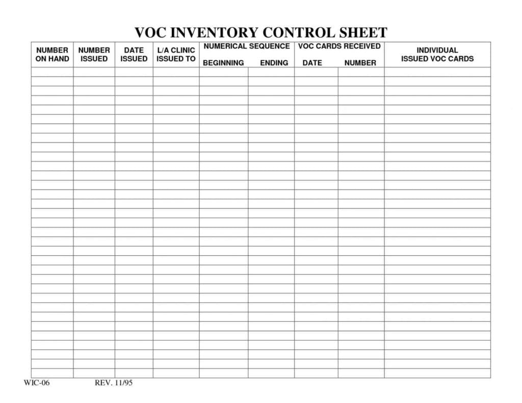 Free Inventory Control Spreadsheet1
