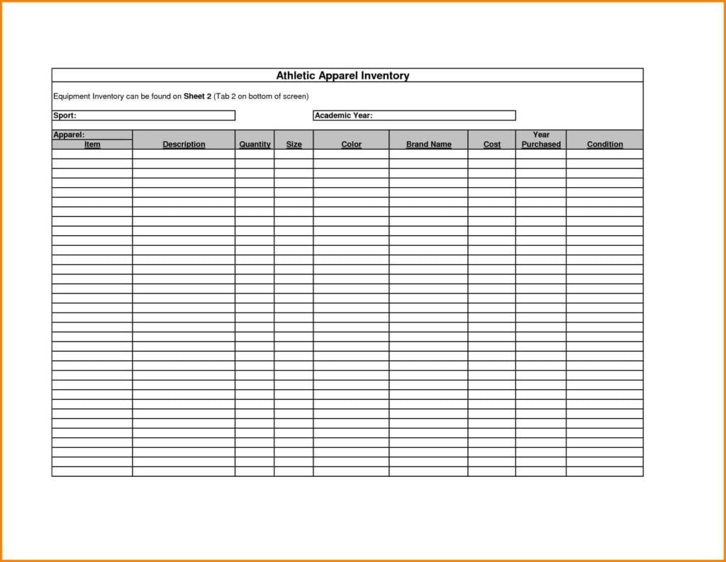 Free Inventory Spreadsheet