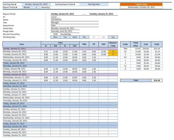 Free Microsoft Excel Spreadsheet Templates