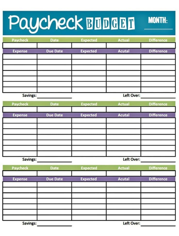 Free Monthly Budget Templates For Excel