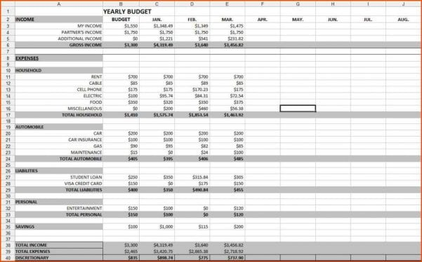 Free Online Budget Spreadsheet Template Spreadsheet Template Budget Spreadsheet Templates for Business Budget Spreadshee Spreadsheet For Monthly Budget Planner