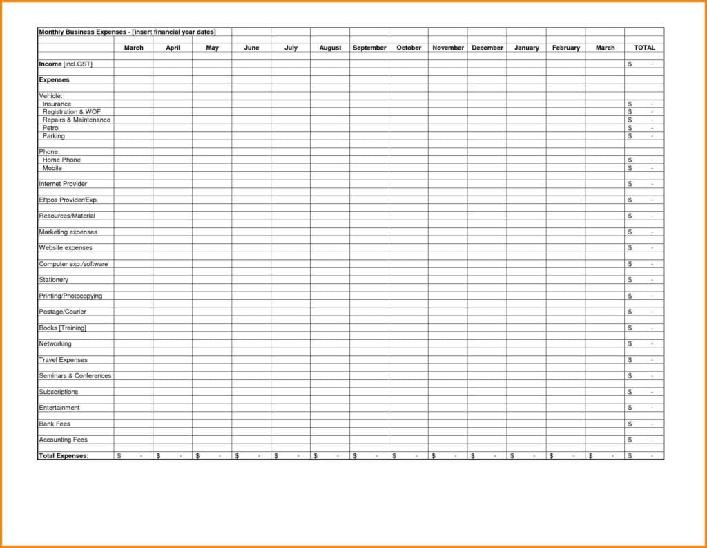 Free Restaurant Spreadsheet Templates