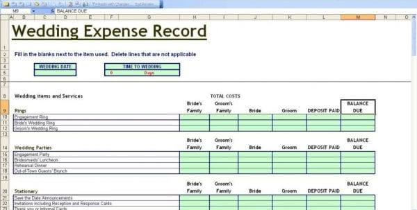 Free Spending Tracker Spreadsheet