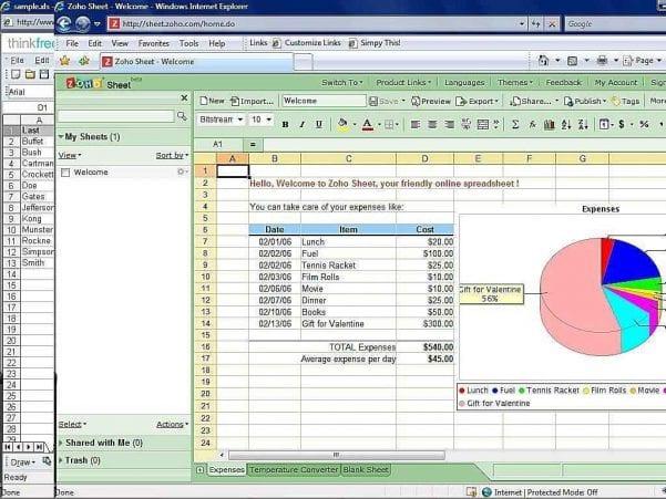 Free Spreadsheet Programs