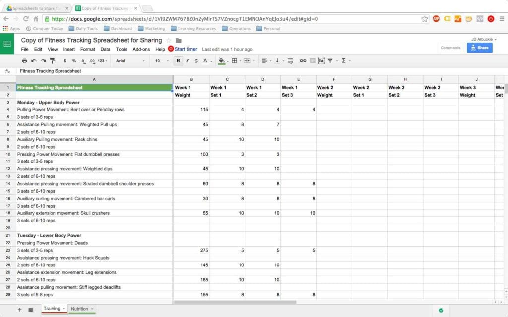 Google Docs And Spreadsheets