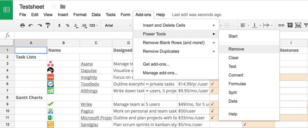 Google Sheets Templates Inventory