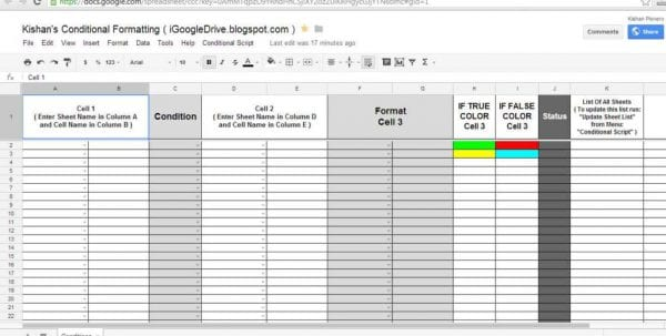 Google Spreadsheet If And