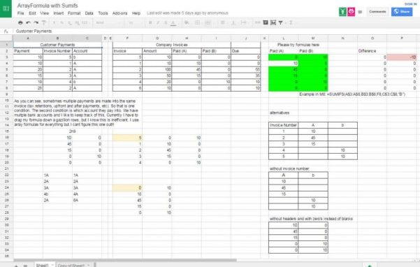 Google Spreadsheet If Statement