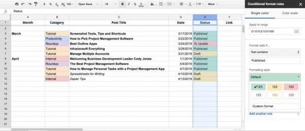 Google Spreadsheet Number Format
