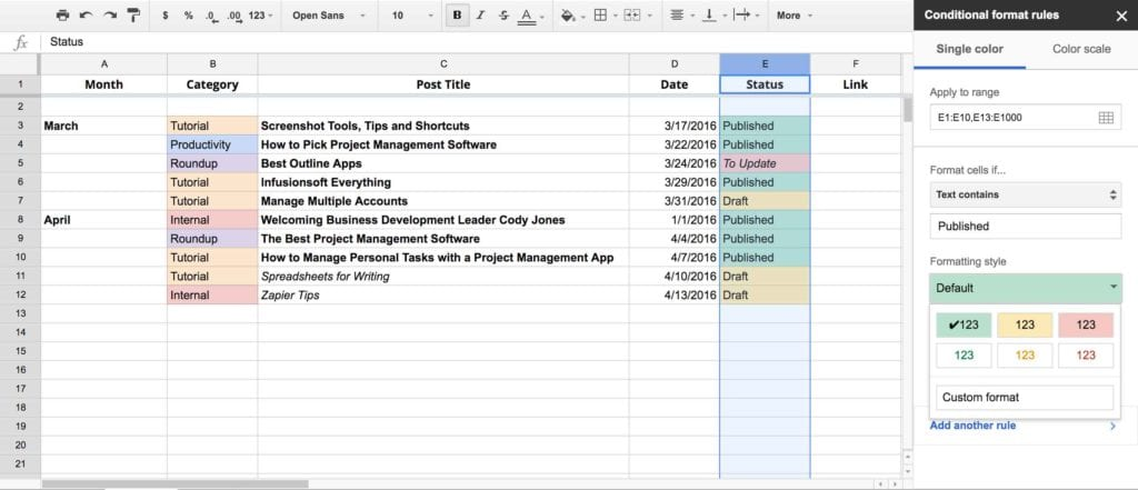 Google Spreadsheet Number Format