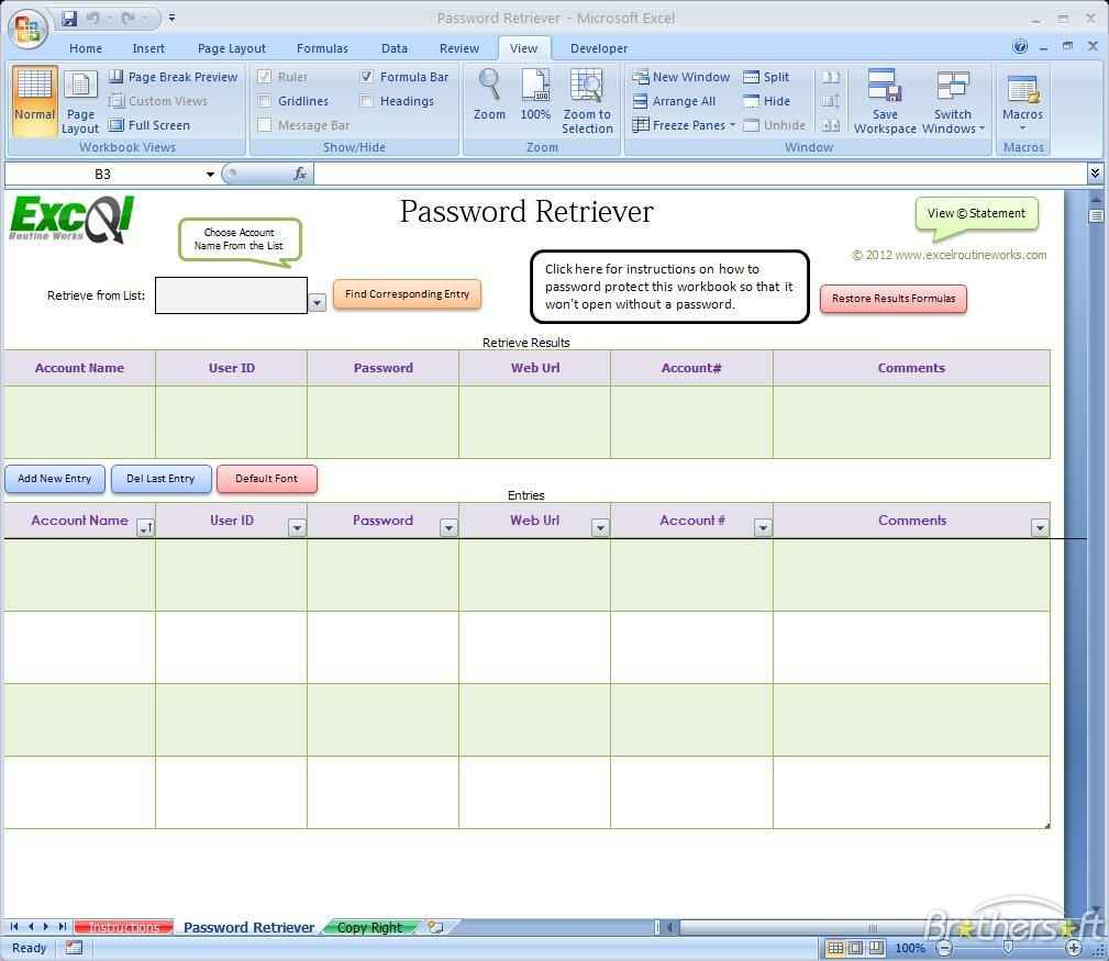 Google Spreadsheet Password Protect