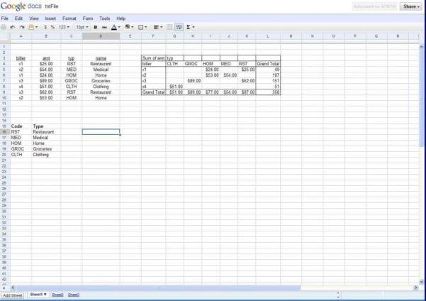 Google Spreadsheet Print Area