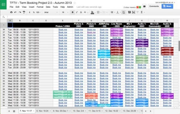 Google Spreadsheets Api1