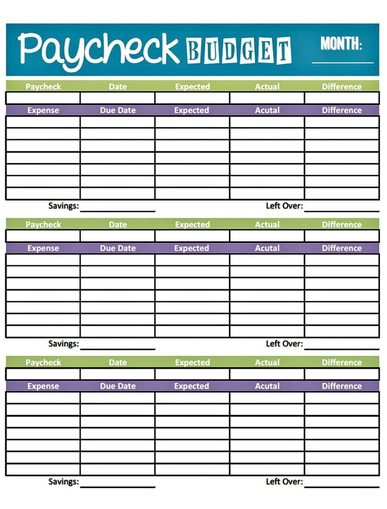 household budget spreadsheet template free 2