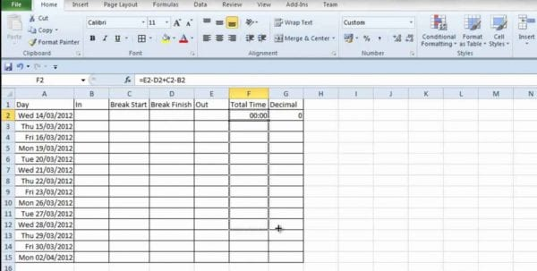 How To Set Up Excel Spreadsheet For Bills