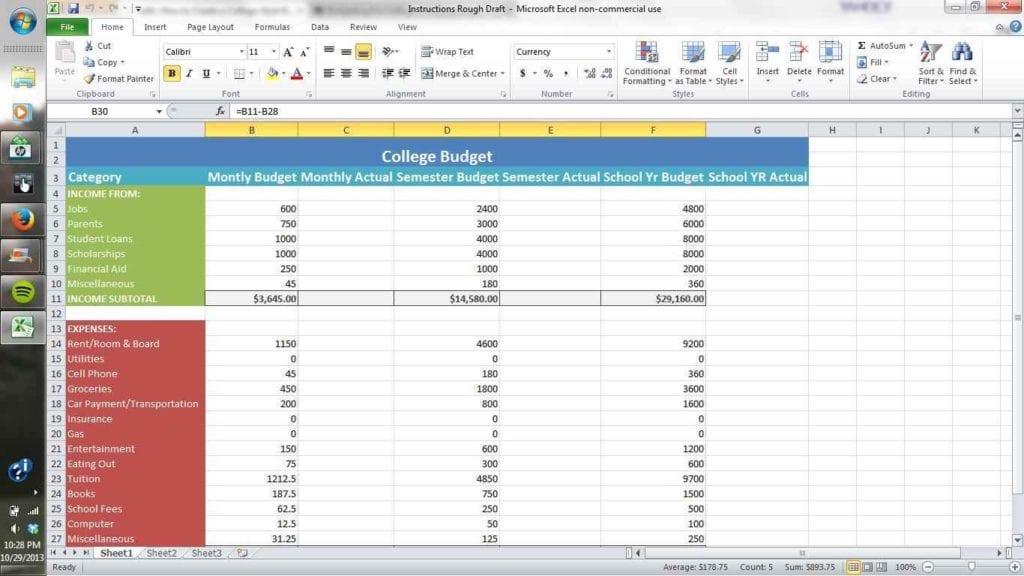 How To Setup A Spreadsheet