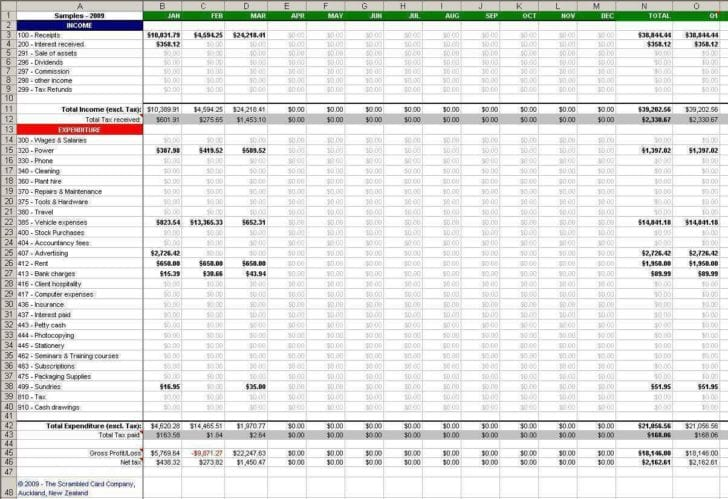 Income Tax Calculation Spreadsheet