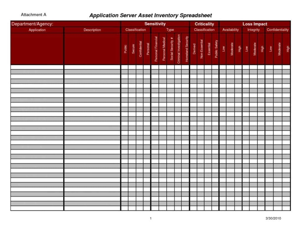 Inventory Control Spreadsheet Template Excel