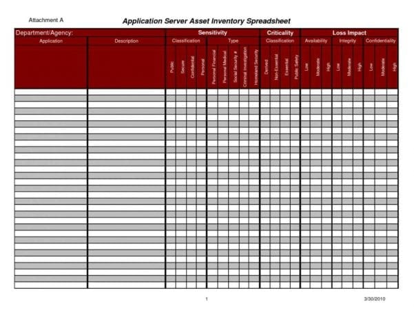 Inventory Control Spreadsheet Template Free1