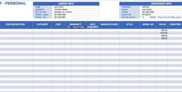 Inventory Control Template With Count Sheet Free Download1