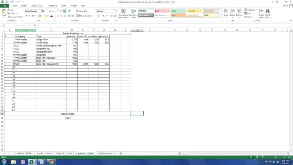 Inventory Control Templates Excel Free