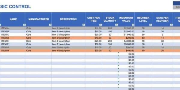Inventory Management Spreadsheet Template Inventory Tracking Spreadsheet Template Free Tracking Spreadsheet, Free Spreadsheet, Inventory Spreadsheet, Spreadsheet Templates for Business
