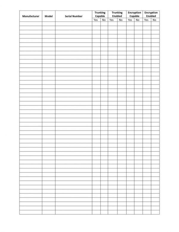 Inventory Spreadsheet Examples