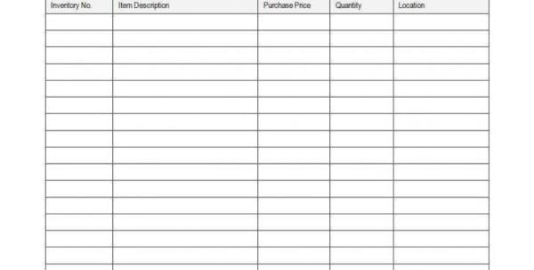 Inventory Spreadsheet Google Sheets