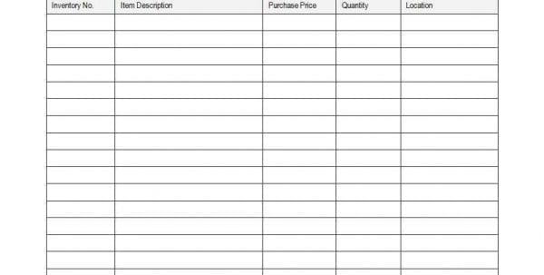 Inventory Spreadsheet Template For Excel