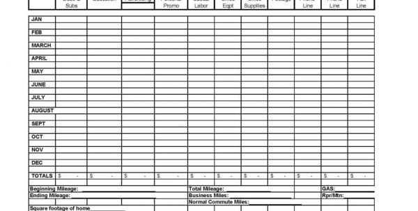 Itemized Business Expense Spreadsheet