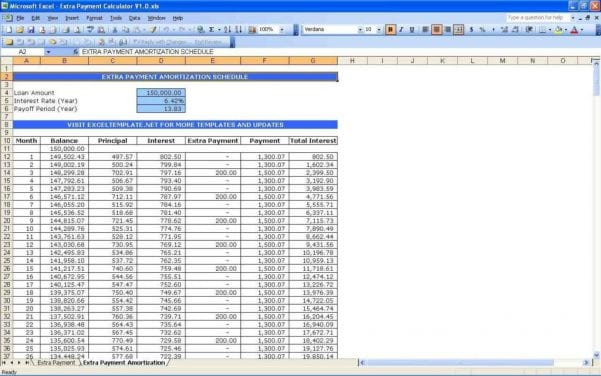 Loan Payment Tracking Spreadsheet