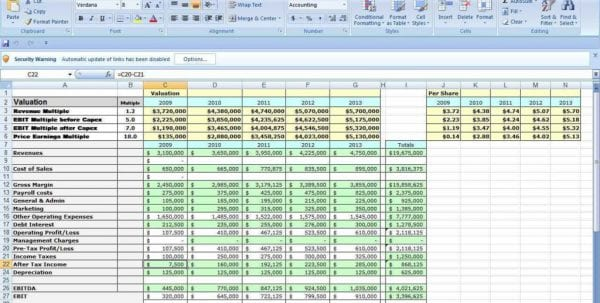 Loan Spreadsheet Template Excel