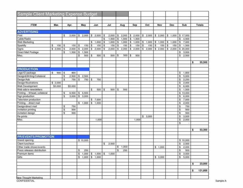 Marketing Plan Budget Sample1