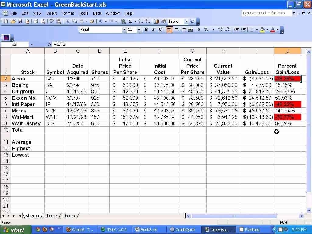 Microsoft Access Spreadsheet 1