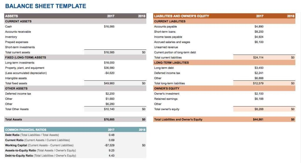 Microsoft Excel Accounting Spreadsheet Templates 1 3