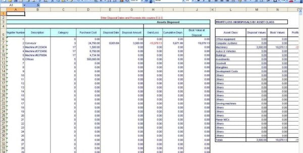 Microsoft Excel Accounting Spreadsheet Templates