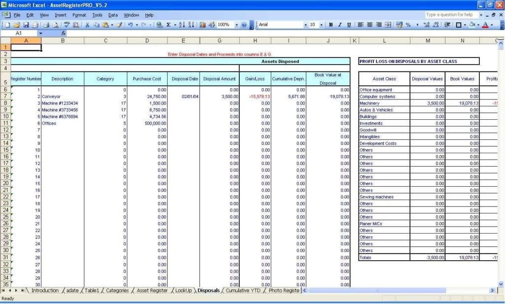 Microsoft Excel Accounting Spreadsheet Templates 1