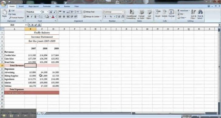 Microsoft Excel Spreadsheet Templates