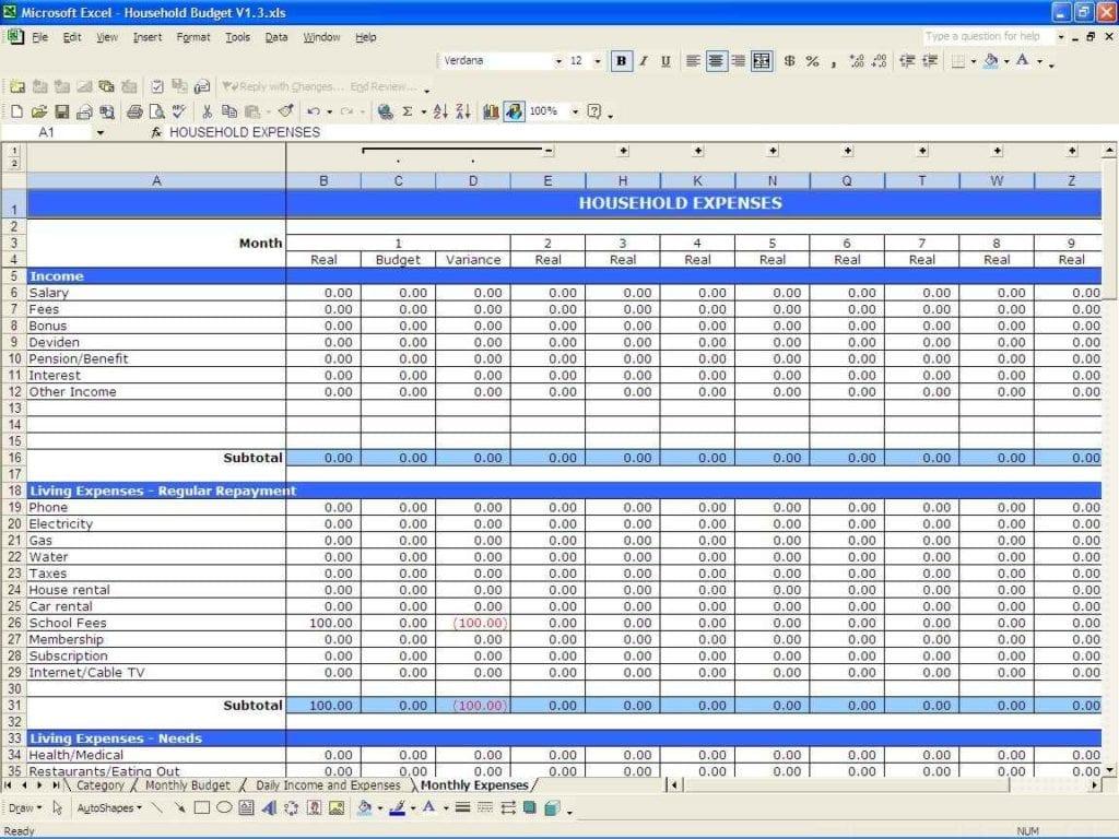 Microsoft Excel Templates Free