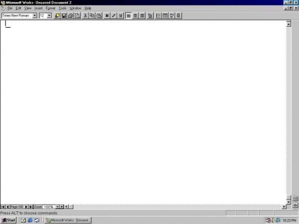 Microsoft Works Database
