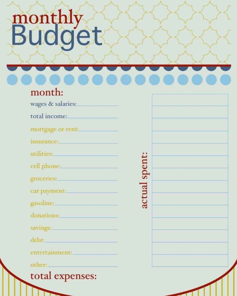 Monthly And Yearly Budget Spreadsheet Excel Template 1 1