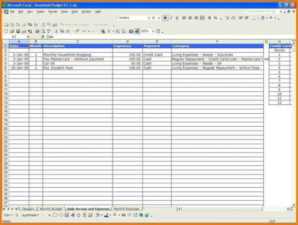 Monthly Budget Planner Template Free1
