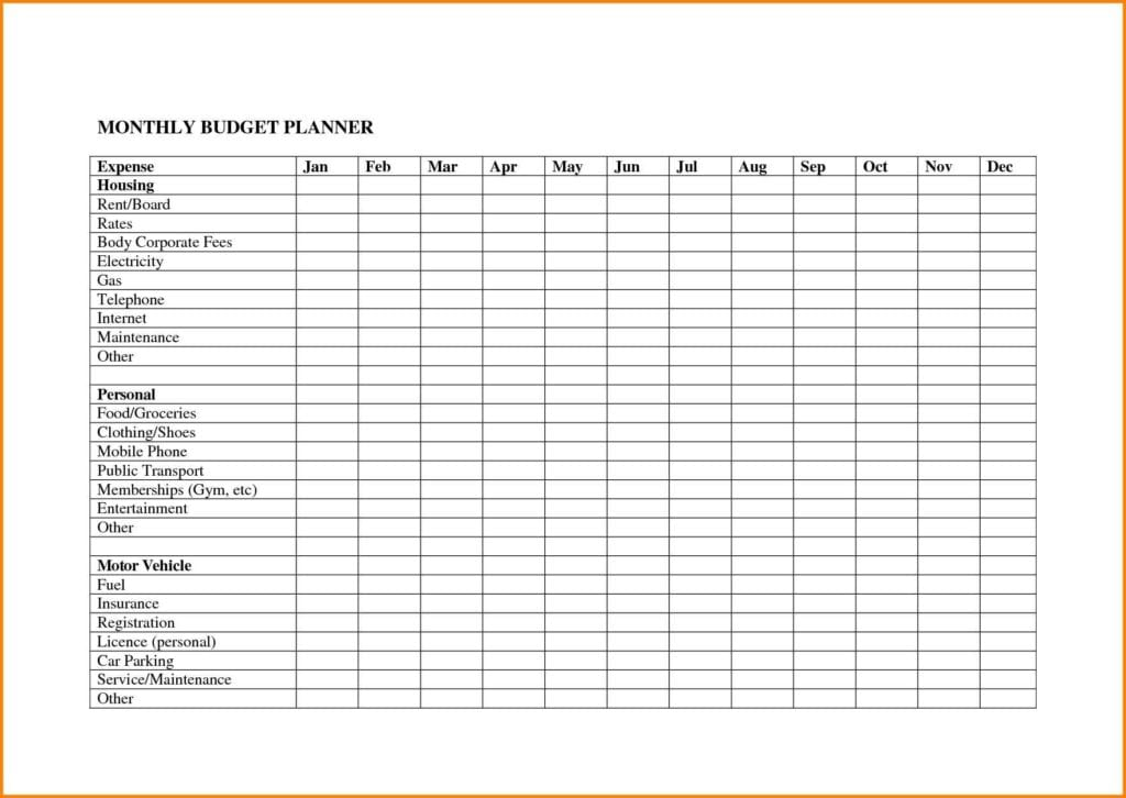 Monthly Budget Worksheet Answers