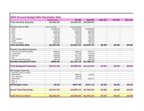 Monthly Expense Report Template Excel1