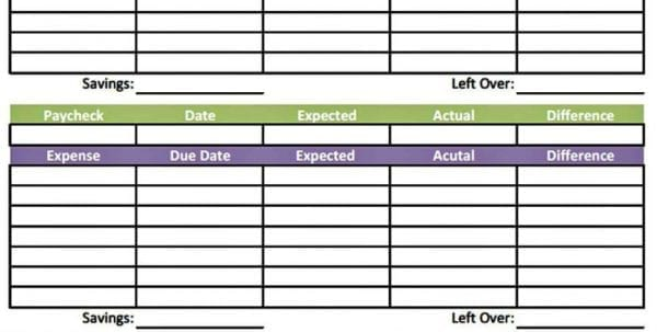 Monthly Expense Sheet Template