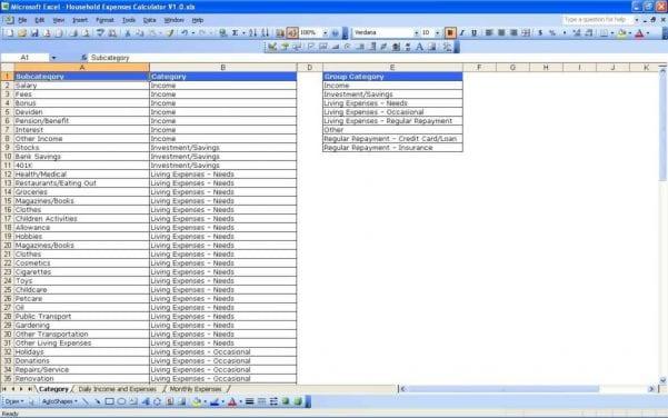 Monthly Expense Tracker Spreadsheet