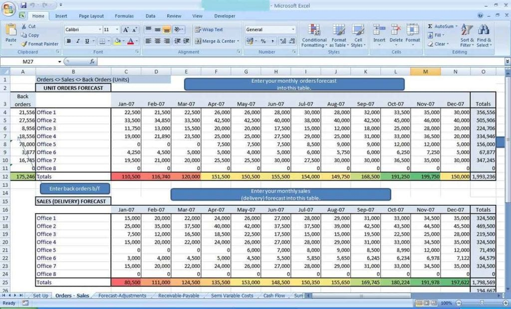 Ms Excel Spreadsheet Examples