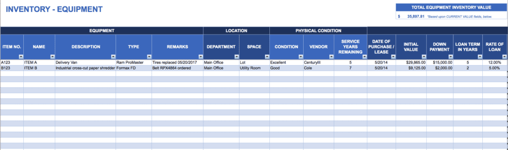office supply inventory spreadsheet example — excelxo.com