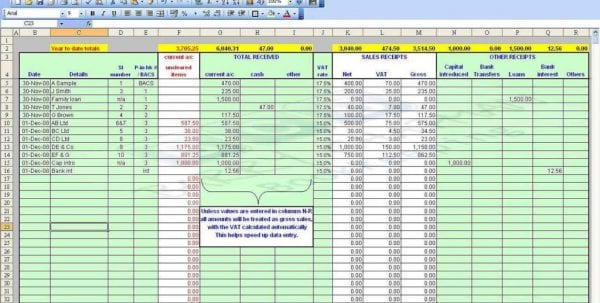 Payroll Spreadsheet Template Uk1
