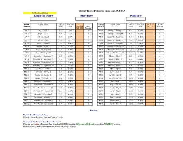 Payroll Tax Spreadsheet Template1